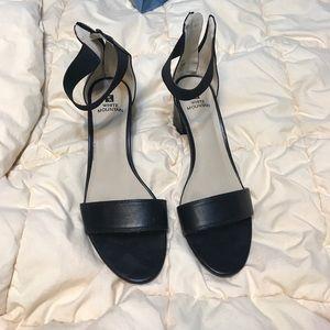 Black ankle strap high heels